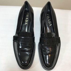 Prada patent leather classic loafers. Sz 37.5